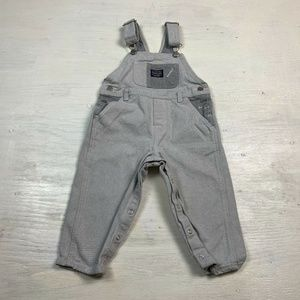 Vintage OshKosh B'Gosh Boys Overalls Gray White